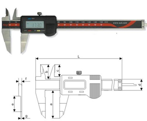 Digimatic Blade Caliper 0-150mm