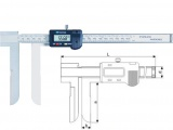 Long jaw tip internal inside diameter digital vernier caliper Inside Knife-edge