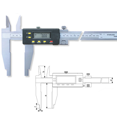 Digital Calipers With Two Types Of I D Jaws Type E Calipers