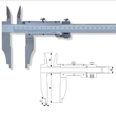Vernier Calipers with Two Types of I.D Jaws(Type E) - Calipers ...